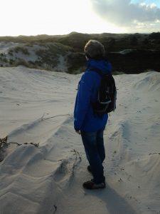 Wandelcoaching in de winter. Hier in de Schoorlse duinen.